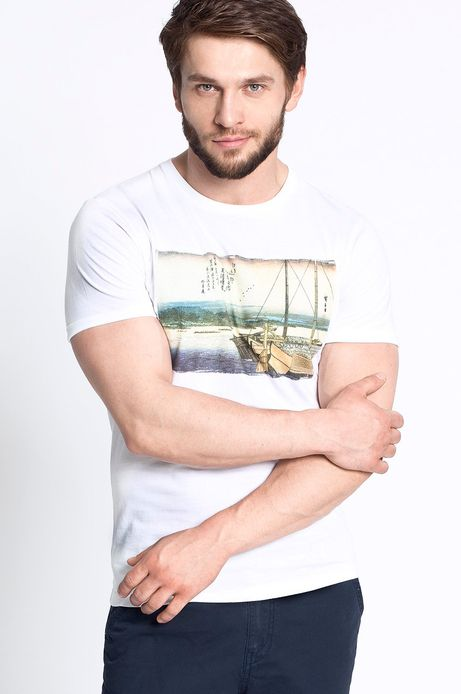 T-shirt Artisan biały