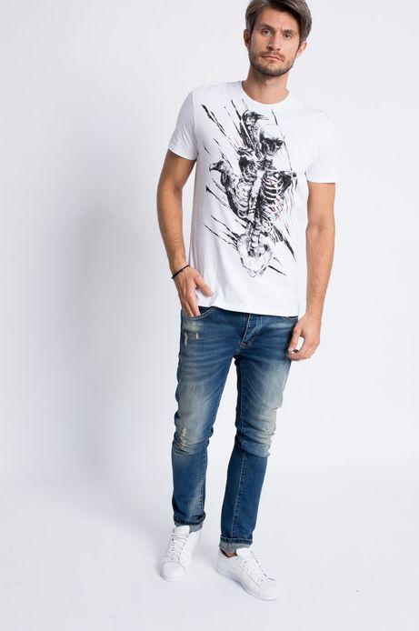 T-shirt Rockstar biały