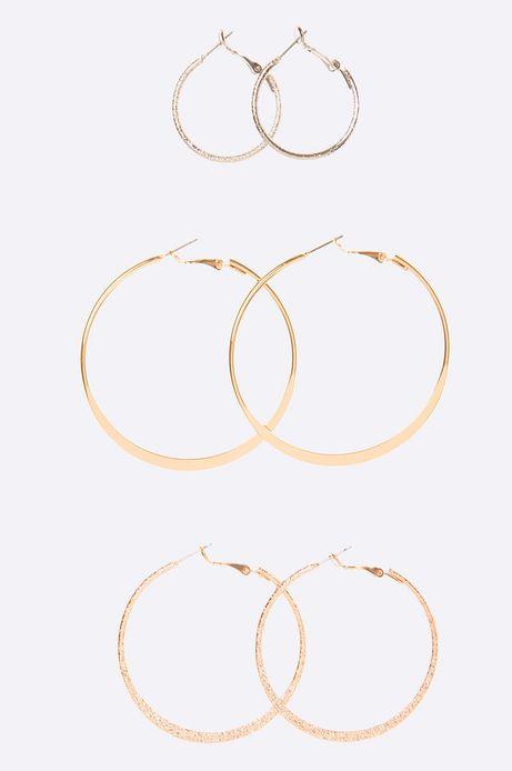Kolczyki Marrakesh (3-pack) złote