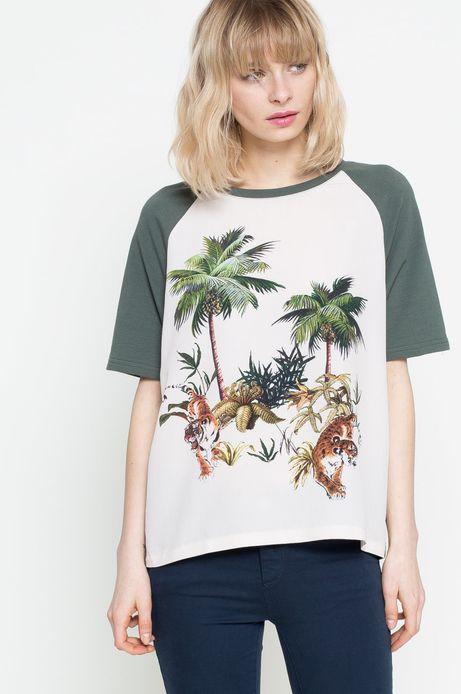 Woman's T-shirt Urban Uniform biały