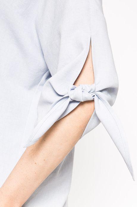 Bluzka Linen Line niebieska