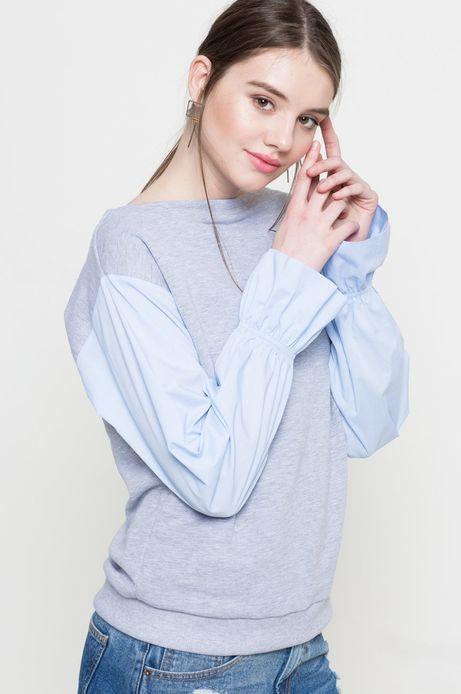 Woman's Bluza Linen Line szara