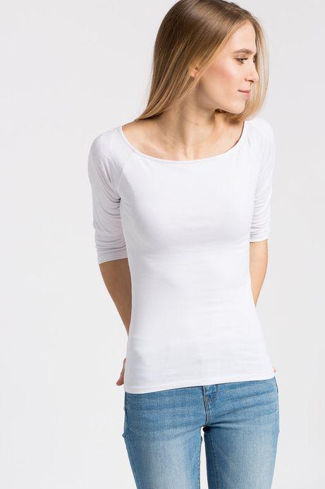 Woman's Bluzka Sunset  biała