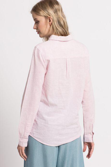 Woman's Koszula Tea Party różowa
