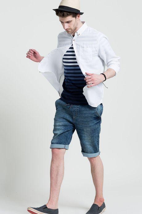Man's Koszula Ahoy Sailor biała