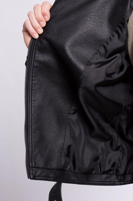 Woman's Kurtka ramoneska Less Is More czarna