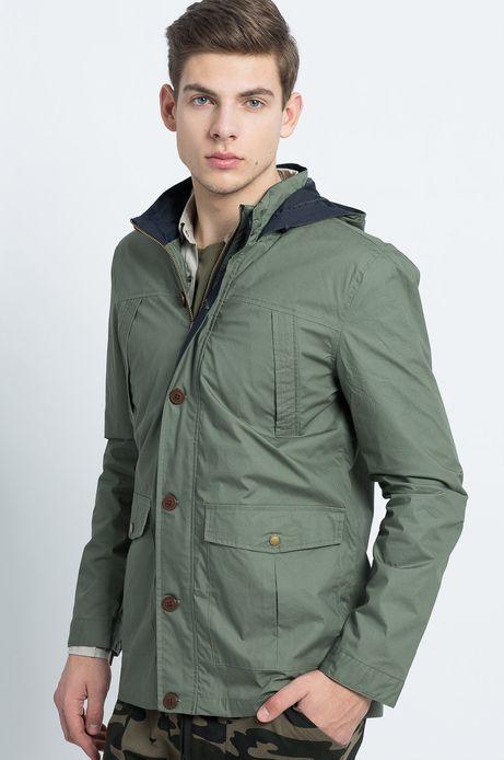 Man's Kurtka Urban Uniform zielona