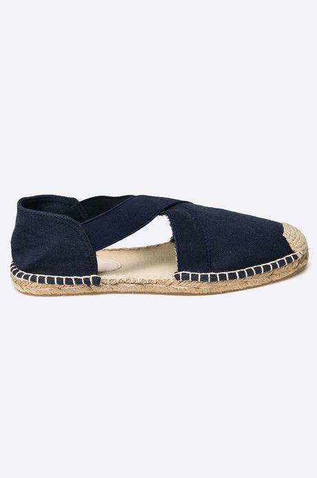 Espadryle Tea Party granatowe