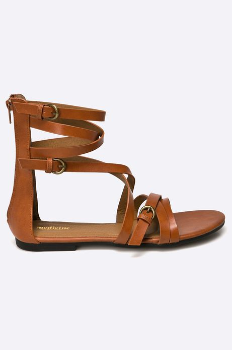 Woman's Sandały African Vibe brązowe
