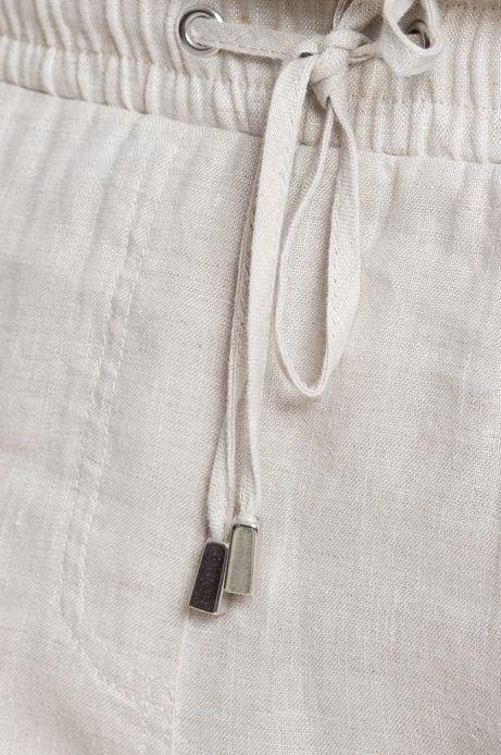 Spodnie Linen Line żółte