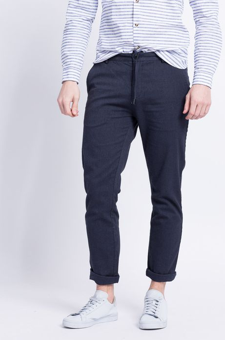 Spodnie Less Is More granatowe