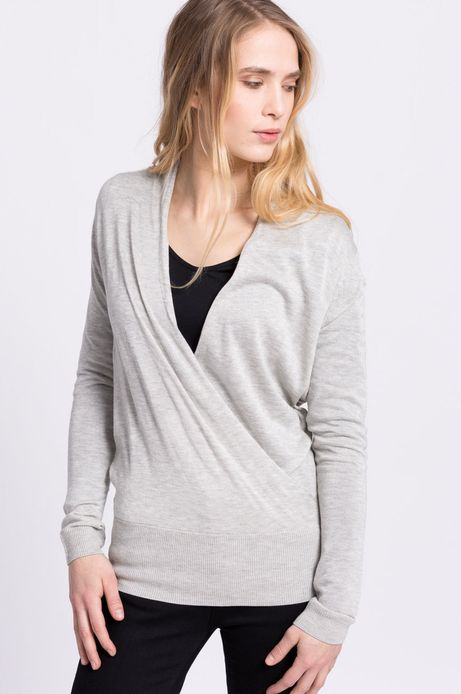 Woman's Sweter Less Is More szary