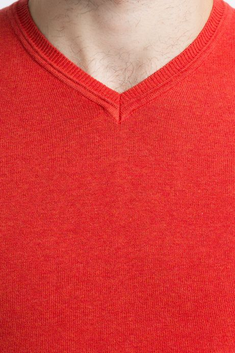 Sweter Let's Party pomarańczowy