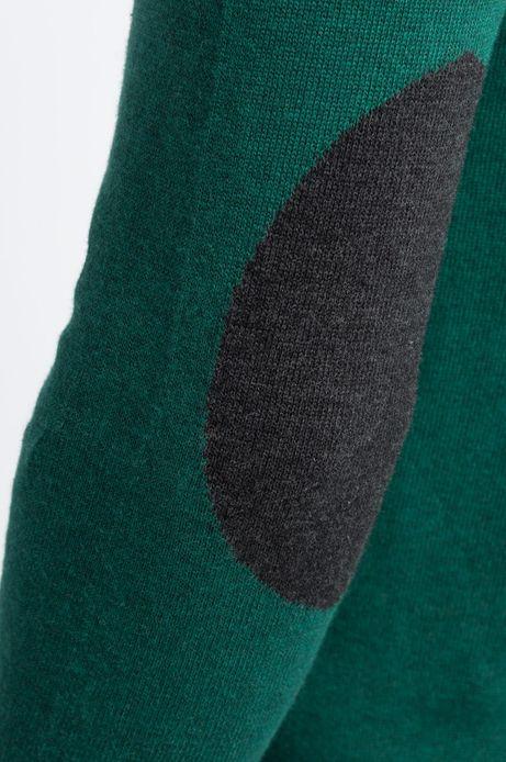 Man's Sweter Let's Party zielony