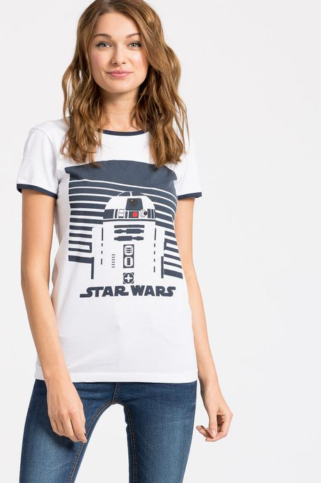 Top Star Wars biały