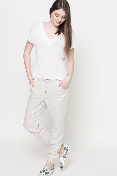 T-shirt Linen Line biały