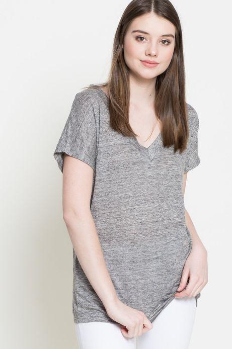 T-shirt Linen Line szary