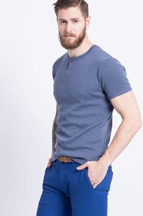 T-shirt Less Is More niebieski