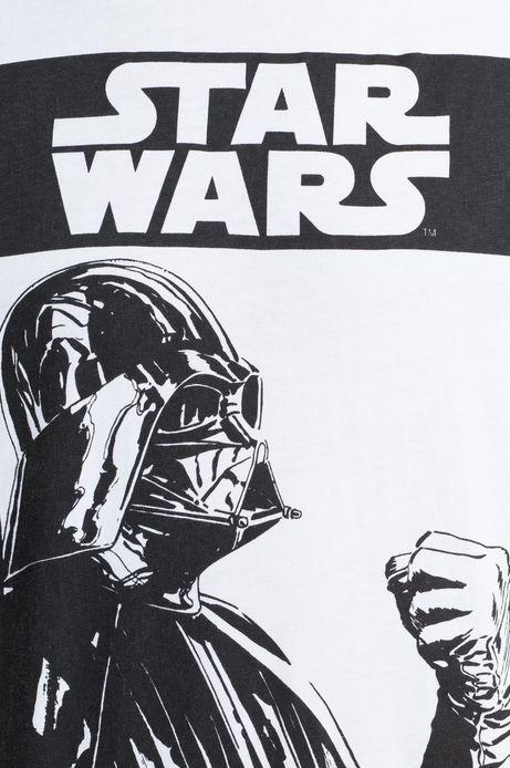 T-shirt Star Wars biały