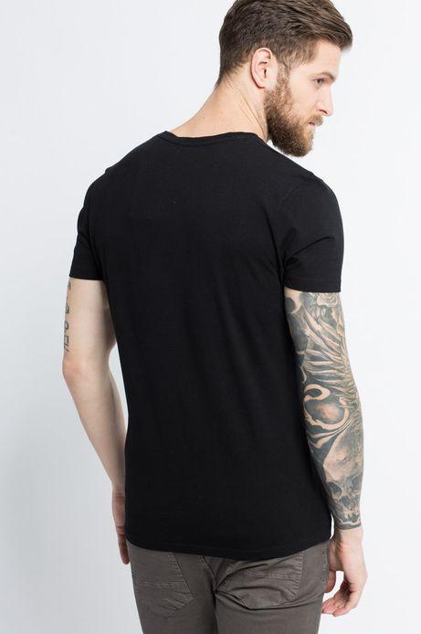 T-shirt Let's Party czarny