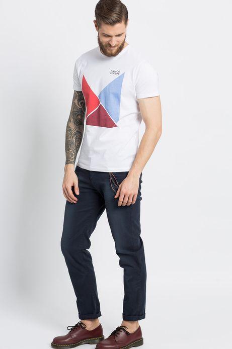 T-shirt Sunset Blvd biały