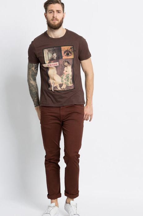 T-shirt Kaja Renkas for Medicine brązowy