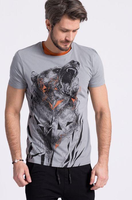 T-shirt Mikołaj Cielniak for Medicine szary