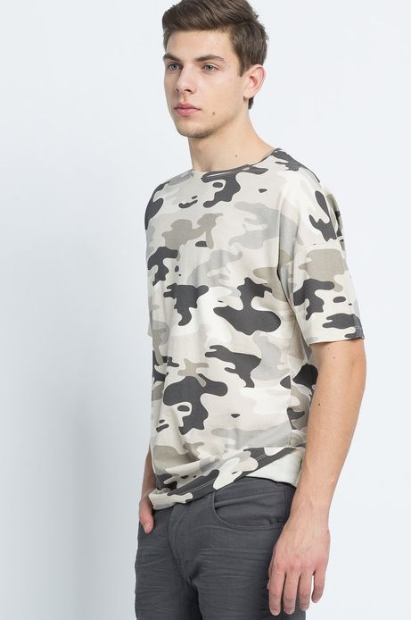 T-shirt Urban Uniform beżowy