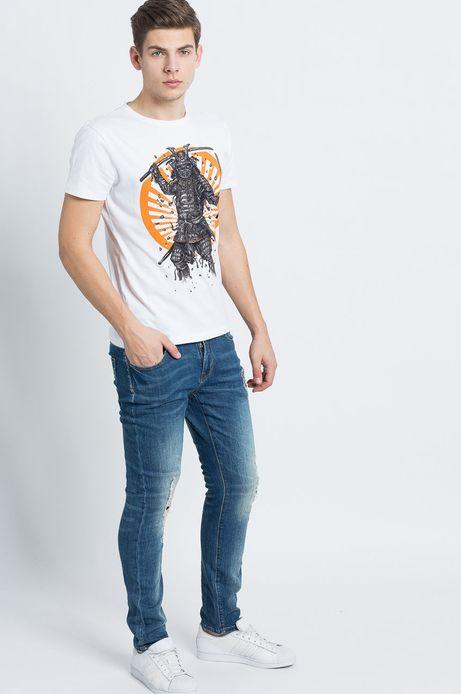 T-shirt Samurai biały