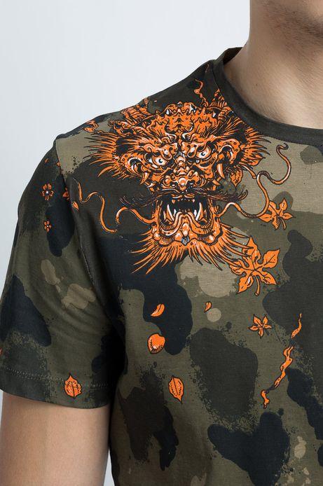 T-shirt Samurai, Rafał Wechterowicz for Medicine zielony