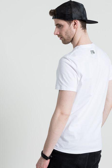 Man's T-shirt Tattoo Konwent by szogun ciernistych krzewów biały
