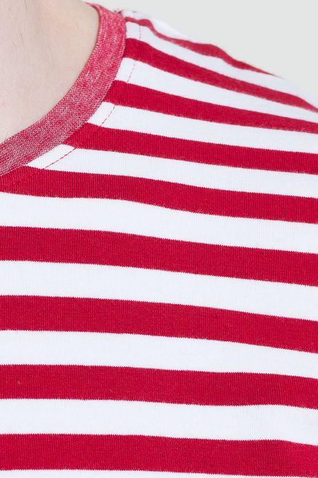 T-shirt Ahoy Sailor czerwony
