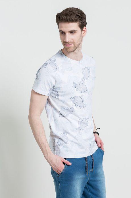 T-shirt Ahoy Sailor biały
