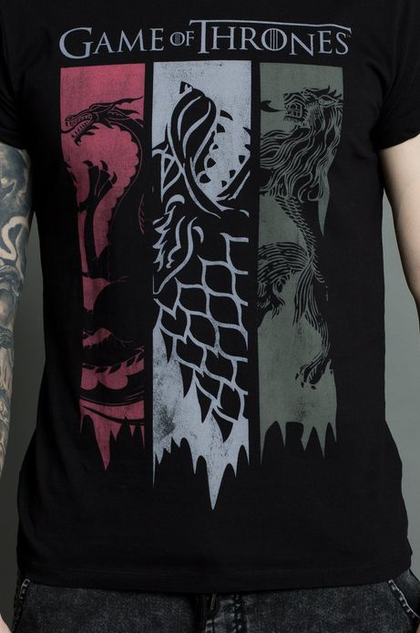 T-shirt Game of Thrones czarny
