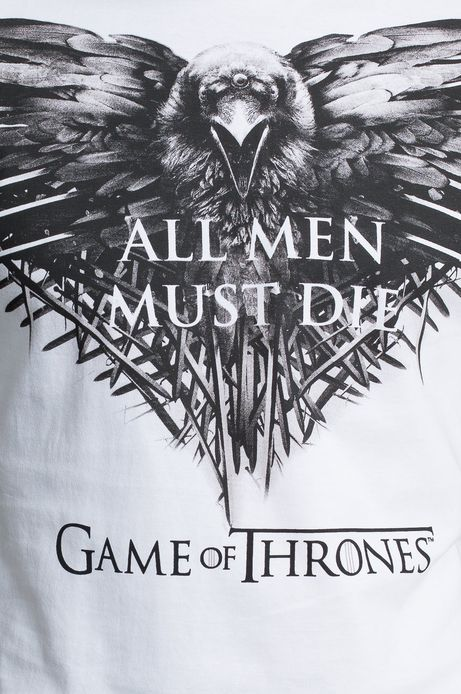T-shirt Game of Thrones biały