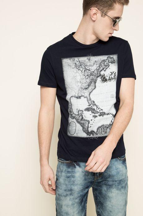 Man's T-shirt The Botanist granatowy