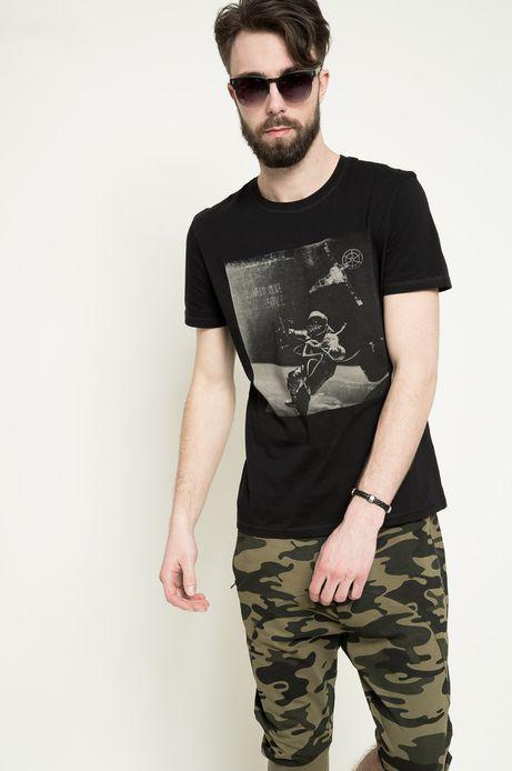 T-shirt Space Odyssey czarny