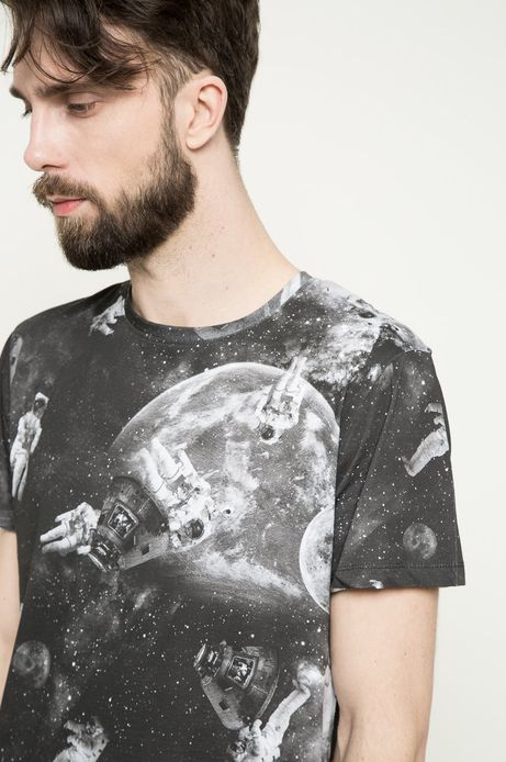 T-shirt Space Odyssey szary