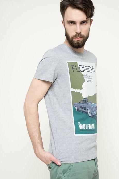 T-shirt Vintage Vehicles szary