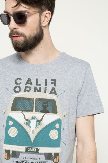 T-shirt Vintage Vehicles szary