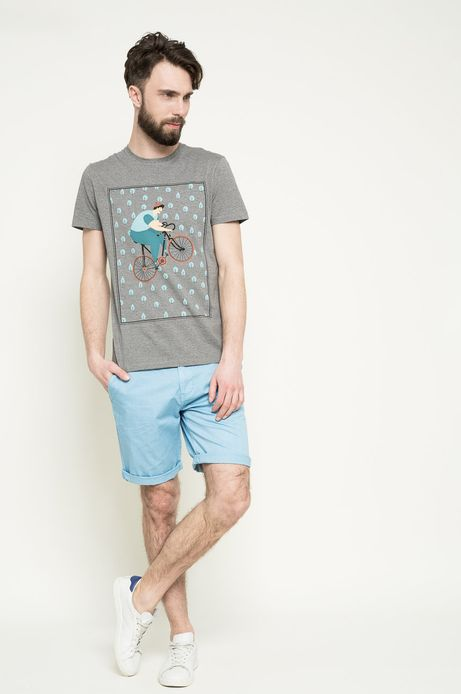 T-shirt Bike Bell szary