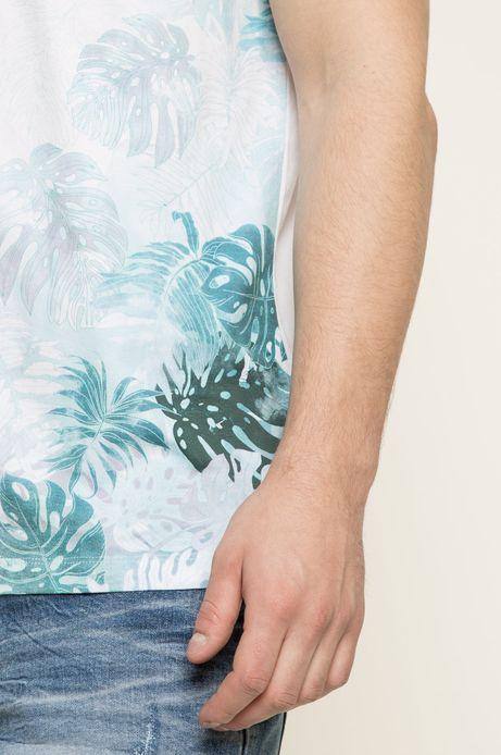 T-shirt Blue Lagoon biały