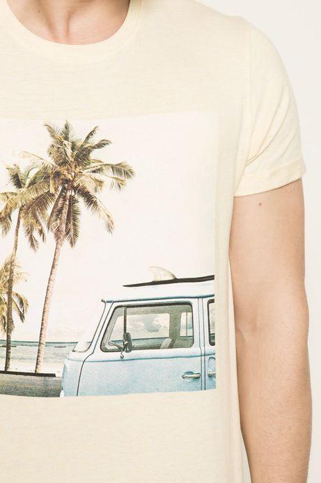 T-shirt Blue Lagoon zółty
