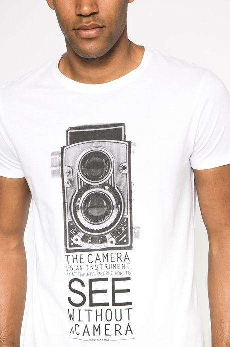 T-shirt by Creative Soul biały