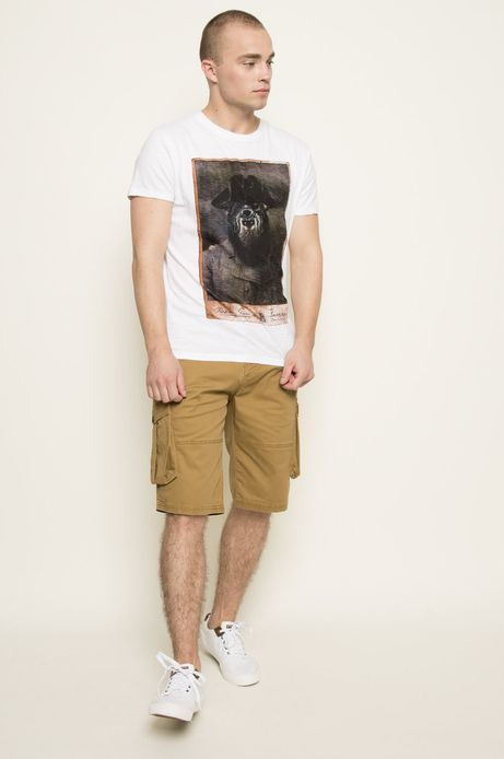 T-shirt Indigo Resort biały