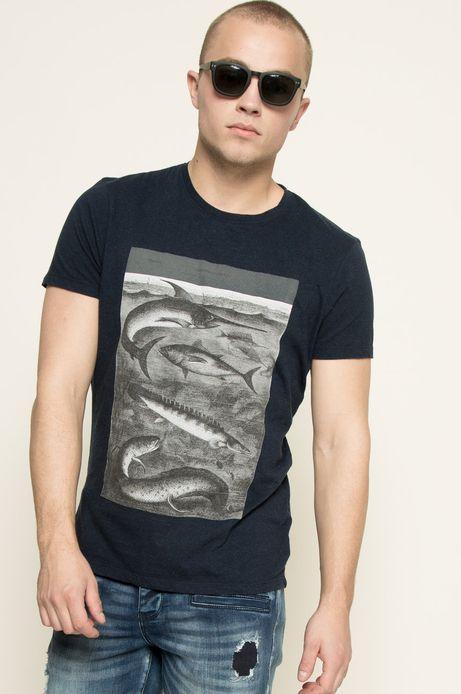 T-shirt Indigo Resort granatowy