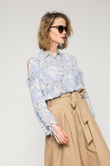 Woman's Koszula damska Basic niebieska