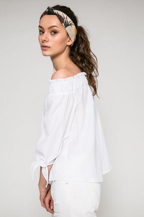 Woman's Bluzka damska Basic biała