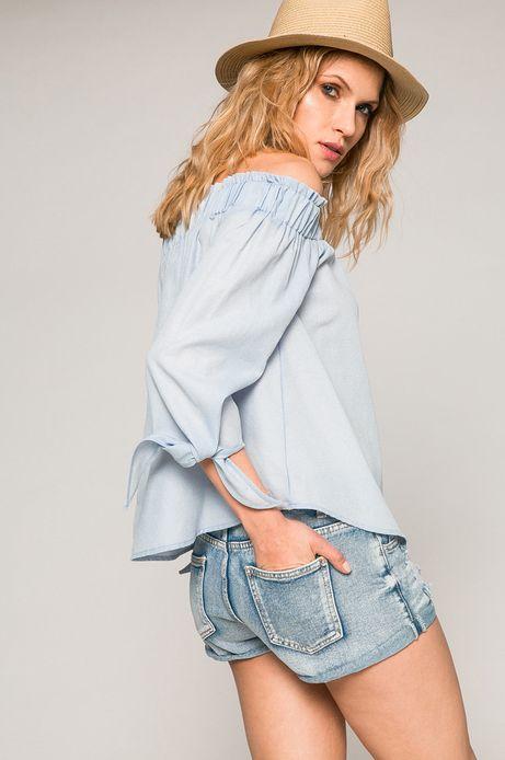 Woman's Bluzka damska Basic niebieska
