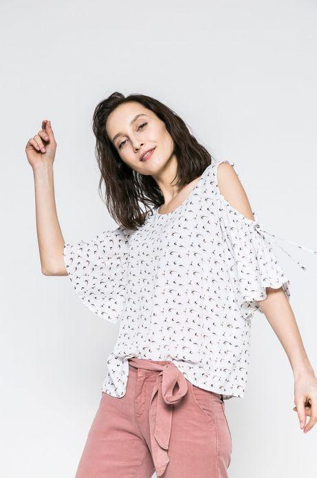 Woman's Bluzka Yoga biała